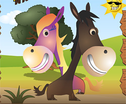 Horsey Run Run game in flash