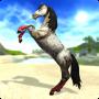 Een schitterend wit paard in Star Stable het online paardenspel